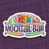 Vectorembleem voor Mocktail-Bar stock illustratie