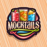 Vectorembleem voor Mocktails vector illustratie