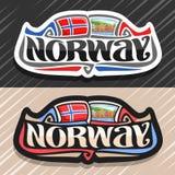 Vectorembleem voor Noorwegen vector illustratie