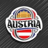 Vectorembleem voor Oostenrijk Stock Fotografie