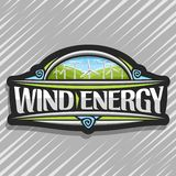 Vectorembleem voor Windenergie Royalty-vrije Illustratie