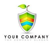 Vectorembleemmalplaatje, ecologie, bescherming, energie - besparing Royalty-vrije Stock Afbeelding