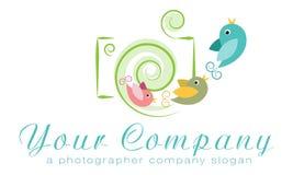 Vectorembleemmalplaatje, het embleem van het fotoagentschap, onafhankelijk fotograafembleem, het embleem van de familiefotograaf Stock Foto