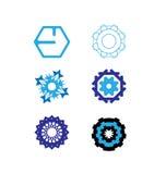 Vectorembleemreeks vector illustratie