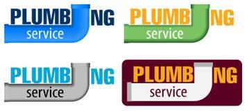 Vectorembleemwater, gastechniek, de loodgieterswerkdienst of bedrijf Webgrafiek, banners, reclame, brochures royalty-vrije illustratie