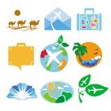 Vectoremblemen voor reisbureaus Royalty-vrije Stock Afbeeldingen
