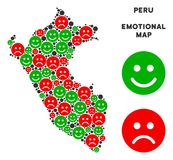 Vectoremotie Peru Map Mosaic van Emojis Vector Illustratie