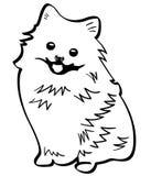 Vectoreps van de Pomeranianhond getrokken Hand, Vector, Eps, Embleem, Pictogram, silhouetillustratie door crafteroks voor verschi stock illustratie
