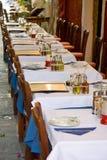 Vectores al aire libre del restaurante fotos de archivo libres de regalías