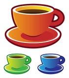 Vectores coloridos: tazas de café Imagen de archivo