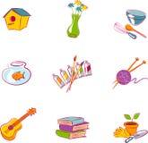 Vectores de diversas aficiones populares Imagen de archivo libre de regalías