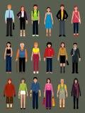 Vectores de la gente Imagenes de archivo