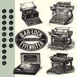 Vectores de la máquina de escribir Imagen de archivo libre de regalías