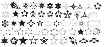 Vectores de las estrellas Imagen de archivo libre de regalías