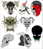 Vectores de los cráneos Imagenes de archivo