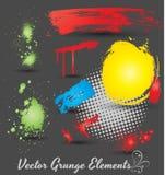 Vectores de los elementos del Grunge Foto de archivo