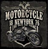 Vectores de los gráficos de la camiseta del motor del vintage de la tipografía de la motocicleta ilustración del vector