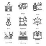 Vectores del aprendizaje a distancia ilustración del vector