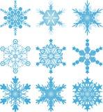 Vectores del copo de nieve Fotografía de archivo libre de regalías