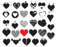 Vectores del corazón Fotos de archivo libres de regalías