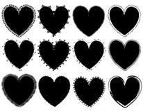 Vectores del corazón del día de tarjeta del día de San Valentín Imágenes de archivo libres de regalías