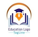Vectores del logotipo de la educación ilustración del vector
