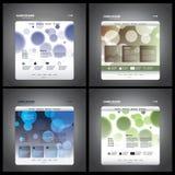 Vectores del modelo del Web site Imagen de archivo