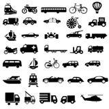 Vectores del negro del transporte del vehículo Imágenes de archivo libres de regalías