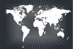 Vectores detallados de la correspondencia de mundo Foto de archivo libre de regalías