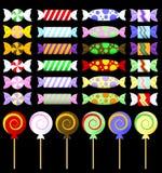 Vectores envueltos gráfico colorido del caramelo Foto de archivo