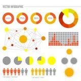 Vectores gráficos de la información fijados Foto de archivo