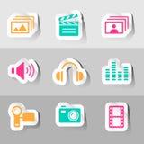Vectores gráficos de la información fijados Fotos de archivo