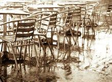 Vectores y sillas Imagen de archivo libre de regalías