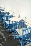 Vectores y sillas del café Imágenes de archivo libres de regalías