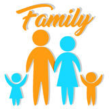 Vectorfamiliepictogram Royalty-vrije Stock Afbeelding