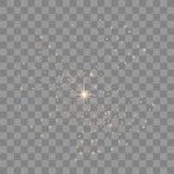 Vectorfonkelingen op transparante achtergrond vector illustratie