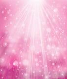 Vectorfonkelings roze achtergrond vector illustratie