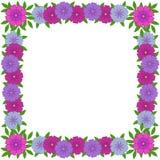 Vectorfotokader van bloemenornament voor ontwerp stock foto's