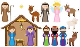 Vectorgeboorte van christusinzameling royalty-vrije illustratie
