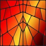 Vectorgebrandschilderd glas Stock Foto
