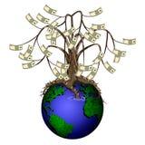Vectorgeldboom Royalty-vrije Stock Fotografie