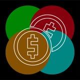 Vectorgeldpictogram Betalingssysteem stock illustratie