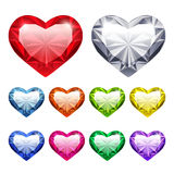 Vectorgem hearts set Royalty-vrije Stock Foto