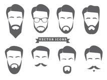 Vectorgezichtspictogrammen Royalty-vrije Stock Afbeeldingen