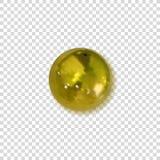 Vectorgoden Pin Button, Kenteken met Schaduw, Voorwerp op Transparante Achtergrond vector illustratie