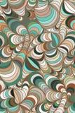 Vectorgolfachtergrond van krabbelhand getrokken lijnen Stock Afbeelding
