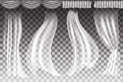 Vectorgordijnen op transparante achtergrond Stock Afbeeldingen