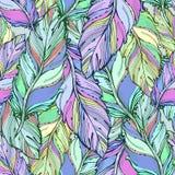 Vectorgrafiek, artistieke, gestileerde naadloze patroonachtergrond stock illustratie