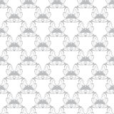 Vectorgray abstract butterfly wing seamless Stock Foto's