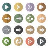 Vectorgroep pijl in de cirkel Stock Afbeeldingen